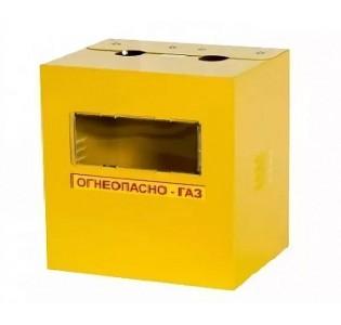 Ящик для счетчика газа G6 (250) Желтый без двери с задней стенкой