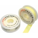 Лента фум  1/2 (12мм)*0,1*12м PROFACTOR (желтая)