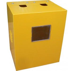 Ящик для счетчика газа G 1.6-4 (110) Желтый с задней  стенкой