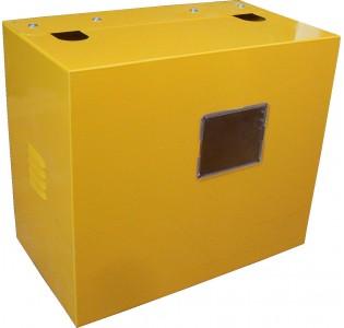 Ящик для счетчика газа G6 (250) Желтый с задней стенкой